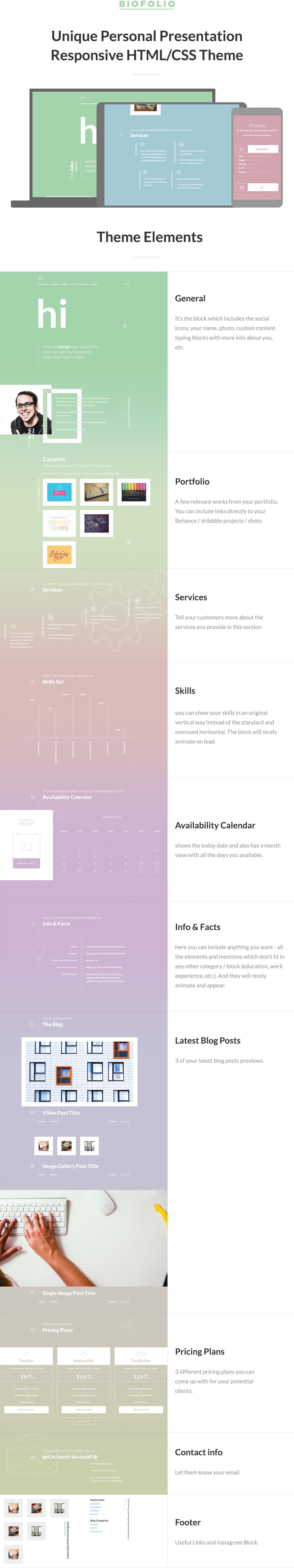 BioFolio - Resume & Portfolio HTML/CSS Template - 1