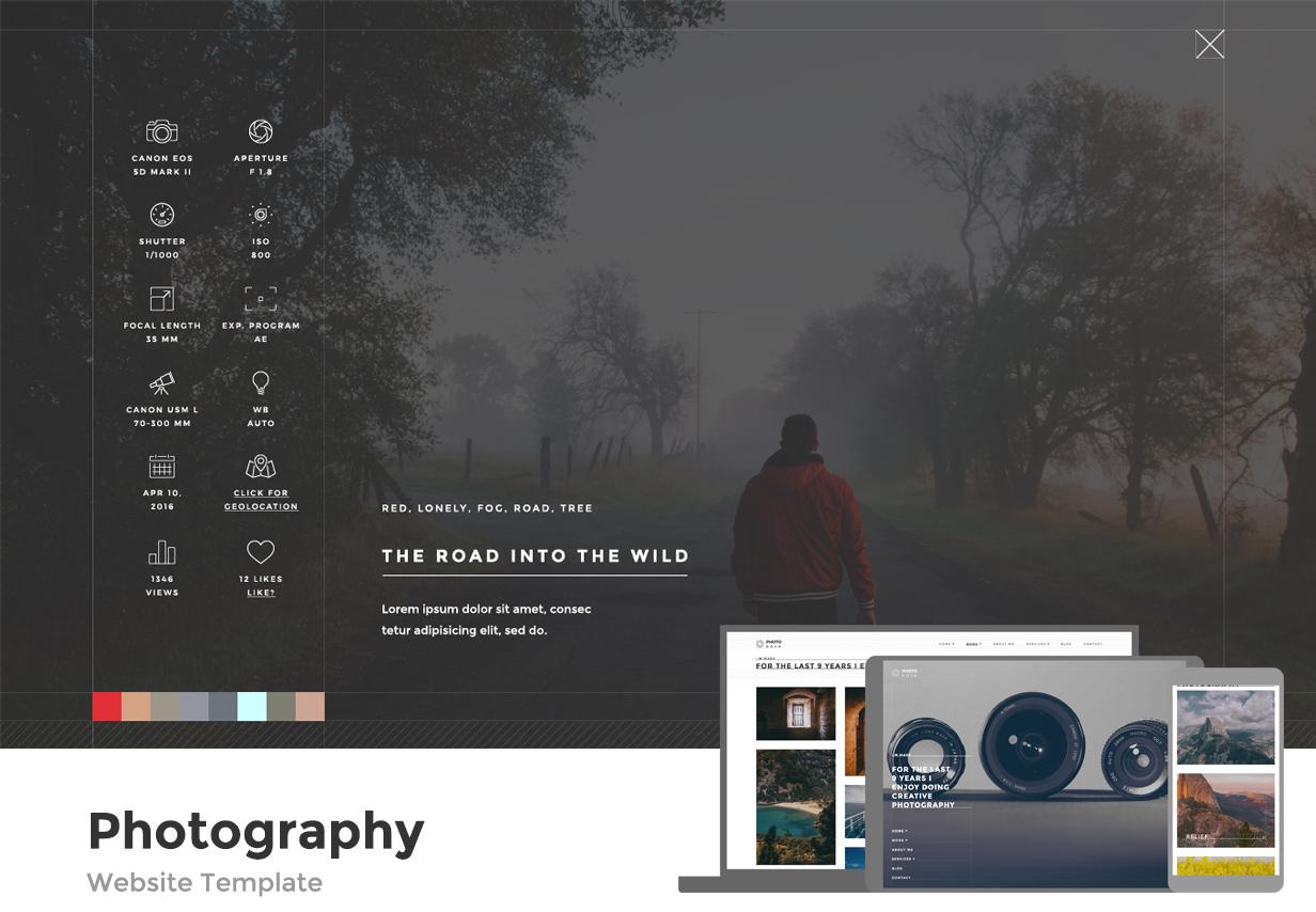 Photo Dojo - Photography Site Template - 1