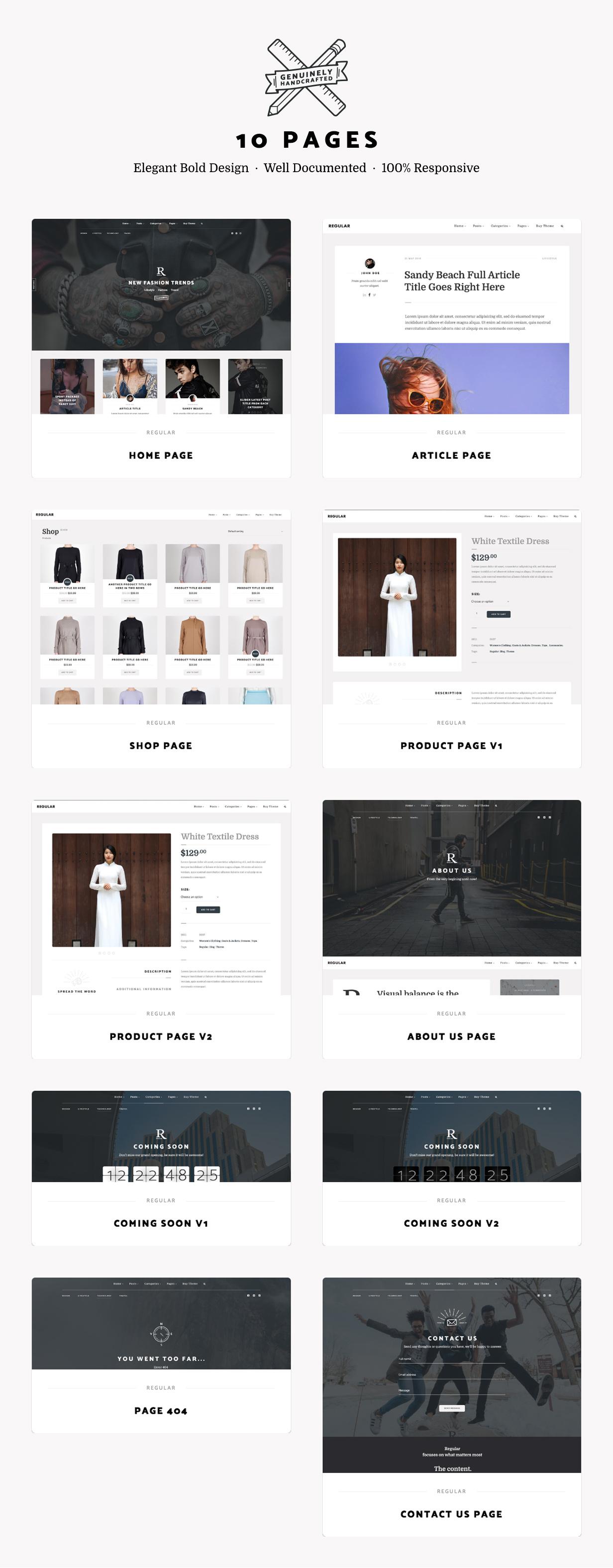 Regular - Bold Content Blog & Online Magazine Website Template - 2